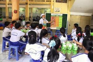 Thực đơn cân bằng dinh dưỡng cho 45 trường tiểu học bán trú Bình Định