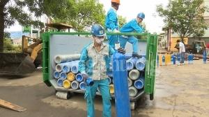 Hà Nội: Tiêu huỷ 215 bình khí N20 sử dụng bơm bóng cười