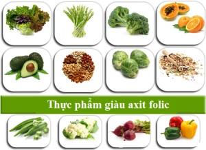 Axit folic có trong thực phẩm nào?