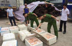 Nghệ An: Liên tiếp bắt giữ nhiều vụ vận chuyển thực phẩm không đảm bảo