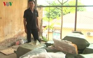 Thu giữ hàng trăm kg nầm lợn nhập lậu từ Trung Quốc
