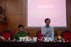 UBND tỉnh Đắk Nông thông tin chính thức vụ tẩm hóa chất