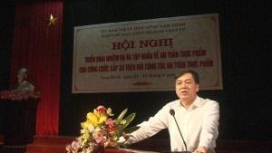 Nam Định: Tập huấn cho công chức xã chuyên theo dõi công tác ATTP
