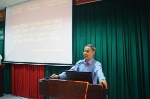 Khai giảng khóa đào tạo liên tục cho cán bộ làm công tác an toàn thực phẩm tại các bệnh viện trên địa bàn tỉnh Quảng Ninh