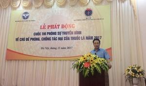 Mỗi năm Việt Nam có 40.000 ca tử vong vì các bệnh liên quan đến sử dụng thuốc lá
